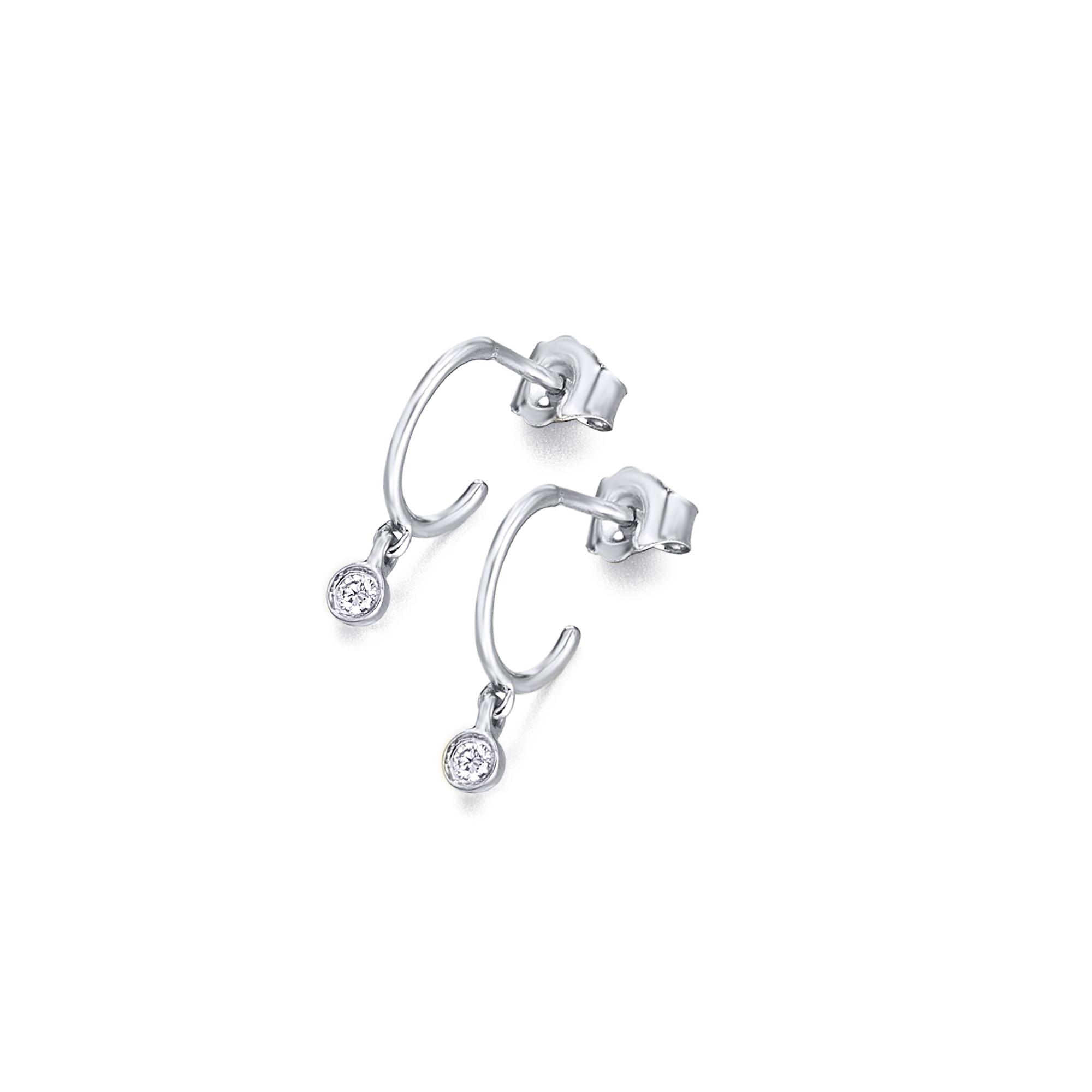 GB059OB orecchini oro bianco diamanti diamonds earrings discount sconto