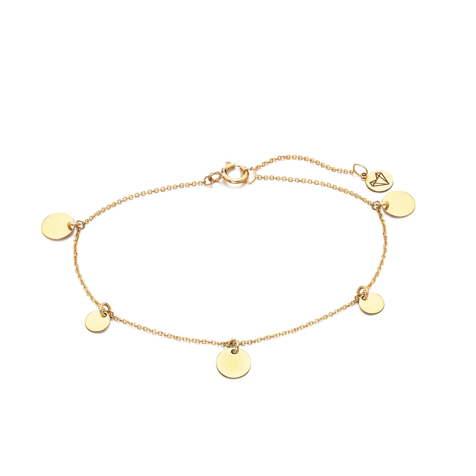 LE CARRÈ bracciale oro giallo 5 dischi bracelet discount sconto