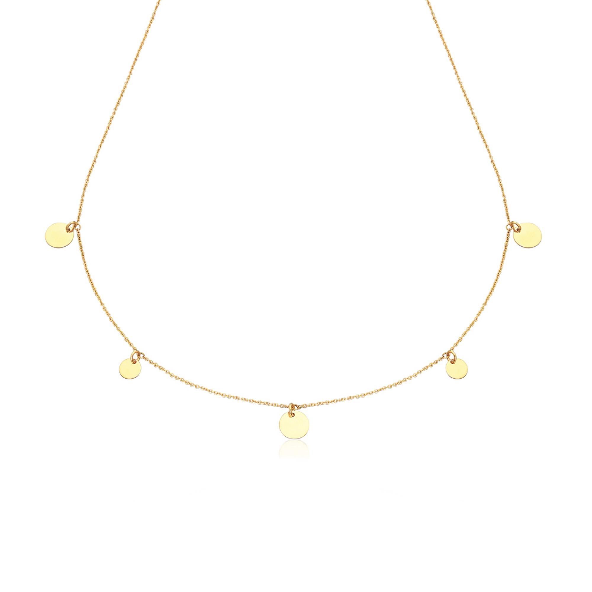 LE CARRÈ collana oro giallo 5 dischi GD057OA collana or giallo necklace gold sconto discount