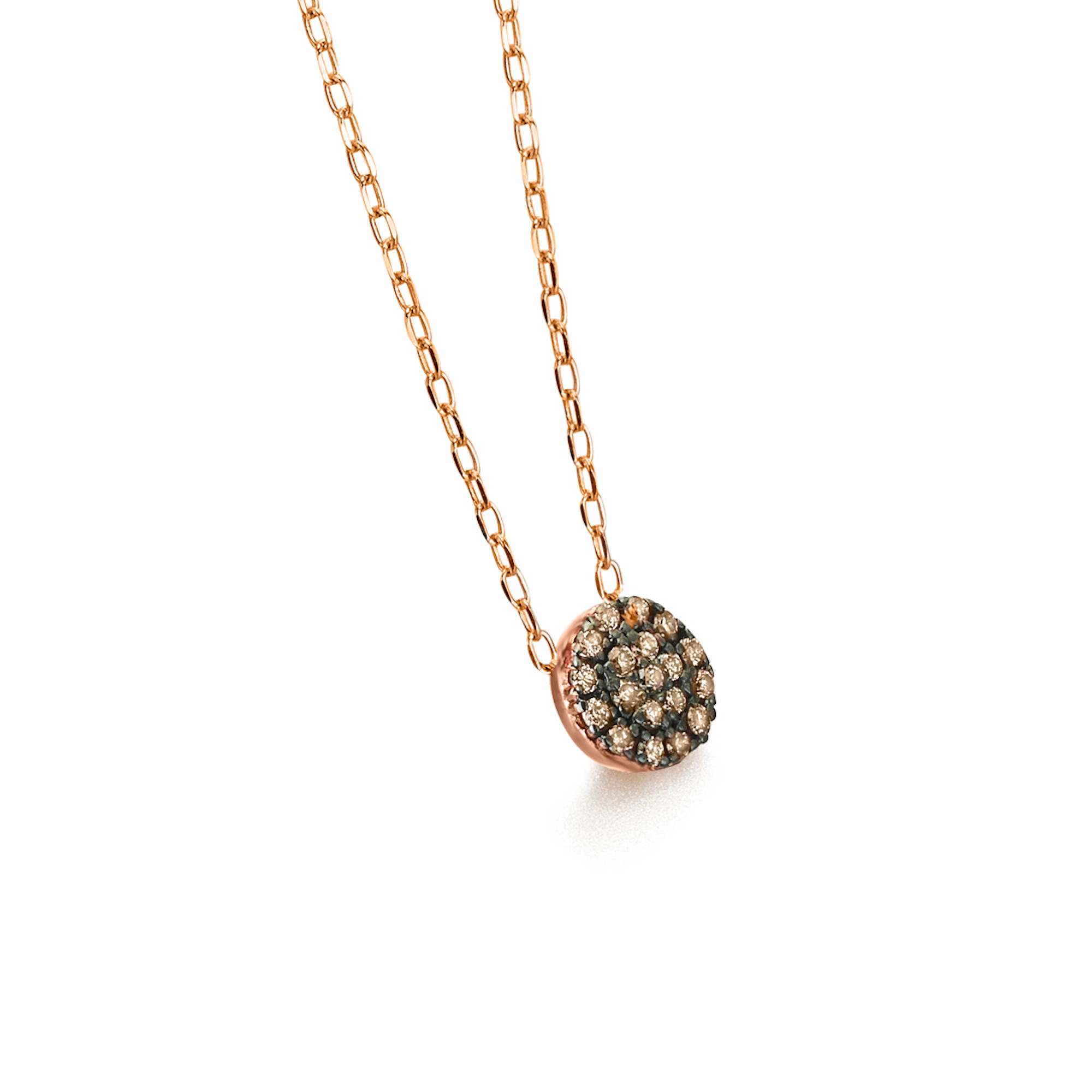 GD073OR-BR collana or rosa diamanti brown necklace diamonds discount