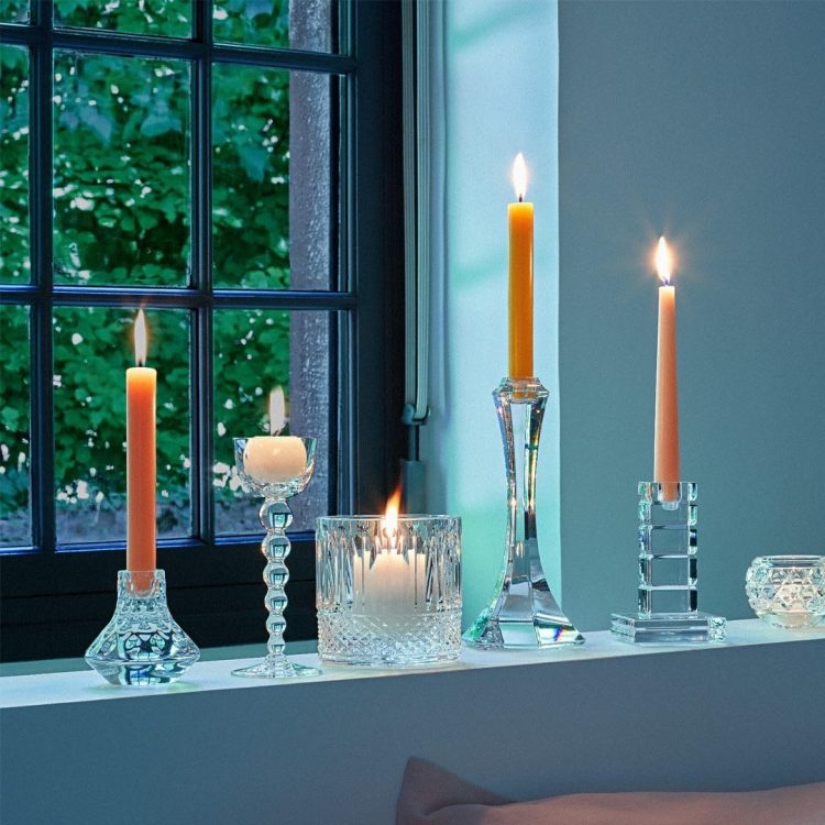 portacandele candleholder vega saint louis crystal sconto discount