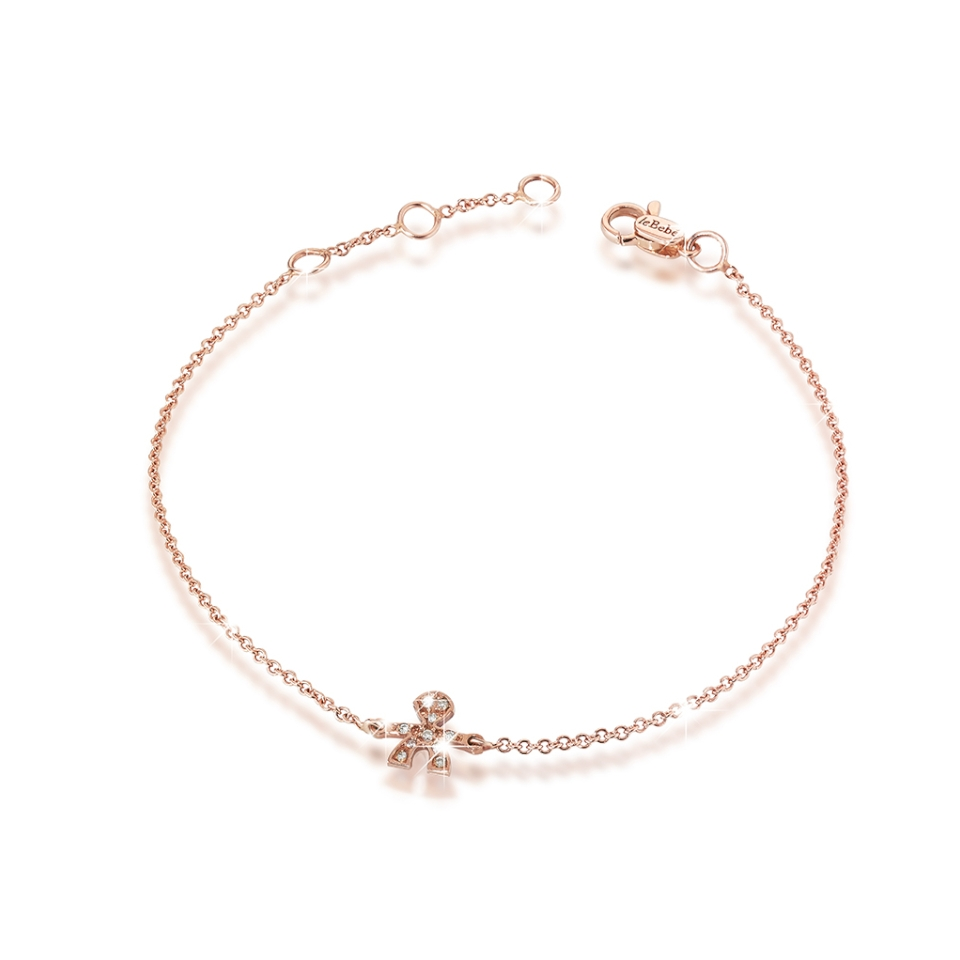 LBB327 bracciale le bebè oro rosa bracelet maschietto diamanti