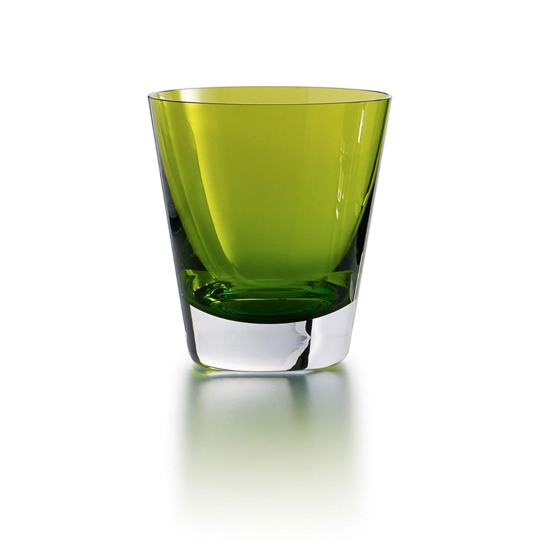Baccarat Mosaique bicchiere tumbler verde light glass discount sconto