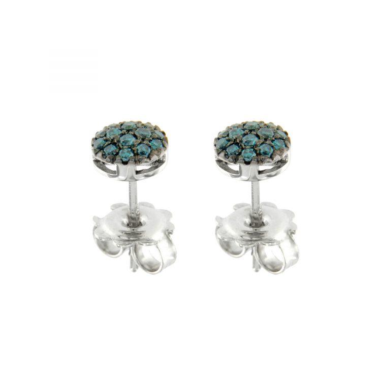45308_Dblue_G1 Orecchini oro bianco diamanti blu earrings sconto discount