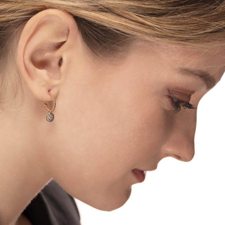 orecchini diamanto brown earrings diamonds sconto discount