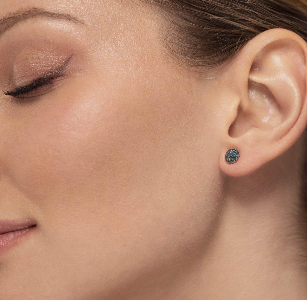 orecchini diamanti blu earrings blue diamonds sconto discount