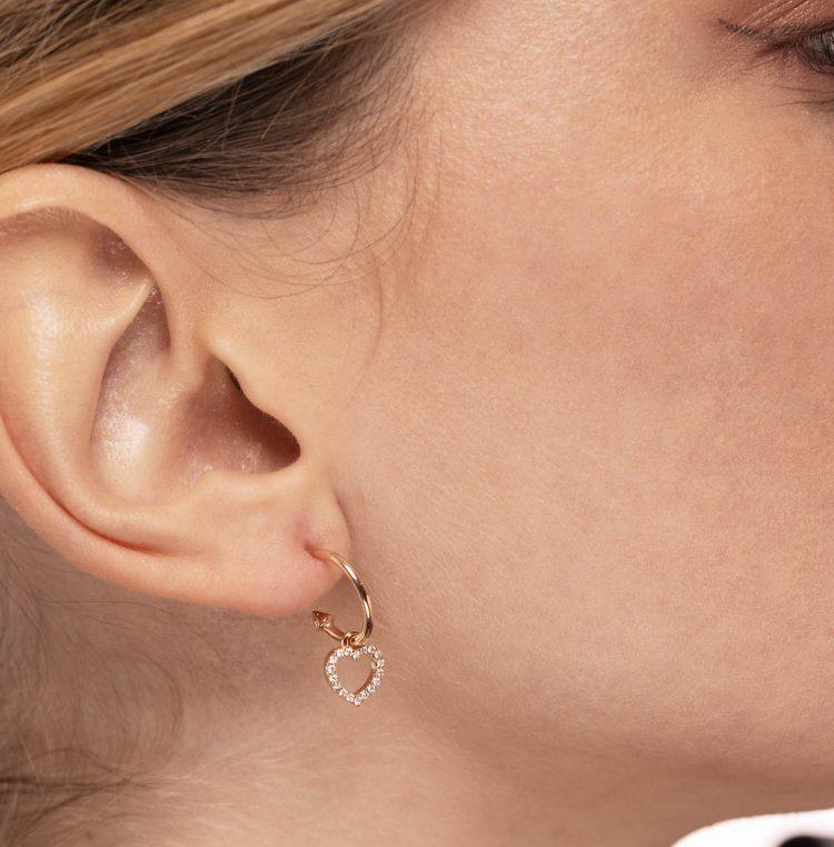 orecchini cuore diamanti heart earrings diamonds sconto discount