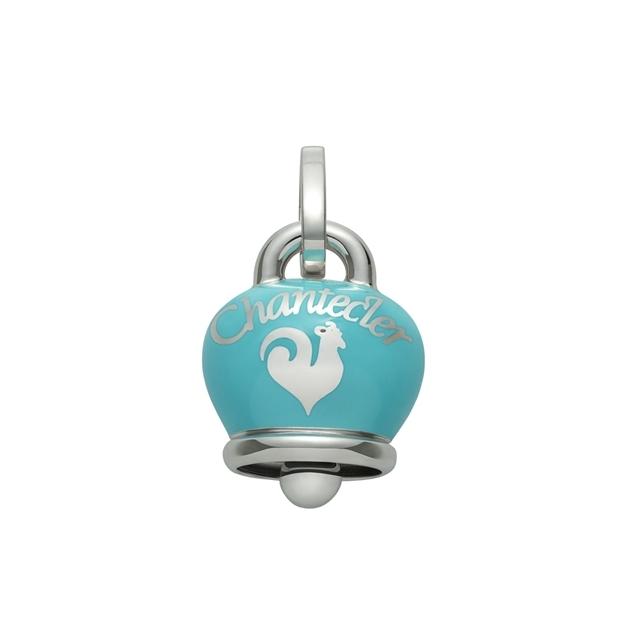 Ciondolo Et Voilà campanella grande in argento e smalto turchese