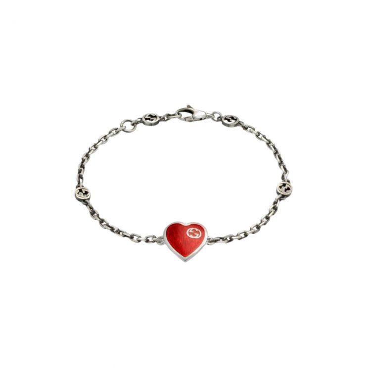 645546_J89B4_1192_001_100_0000_Light-Bracciale-con-cuore-Gucci-e-GG BRACELET RED SCONTO GUCCI DISCOUNT