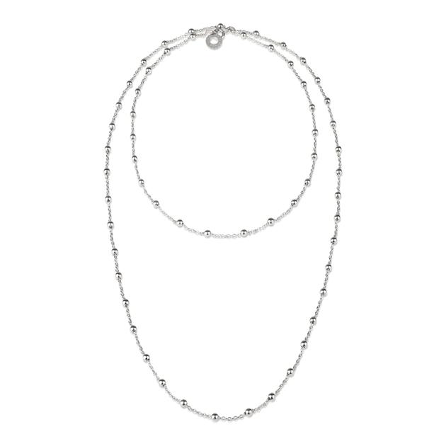 Chantecler silver necklace Catena in argento con logo pendente cm 90. 38628 discount sconto