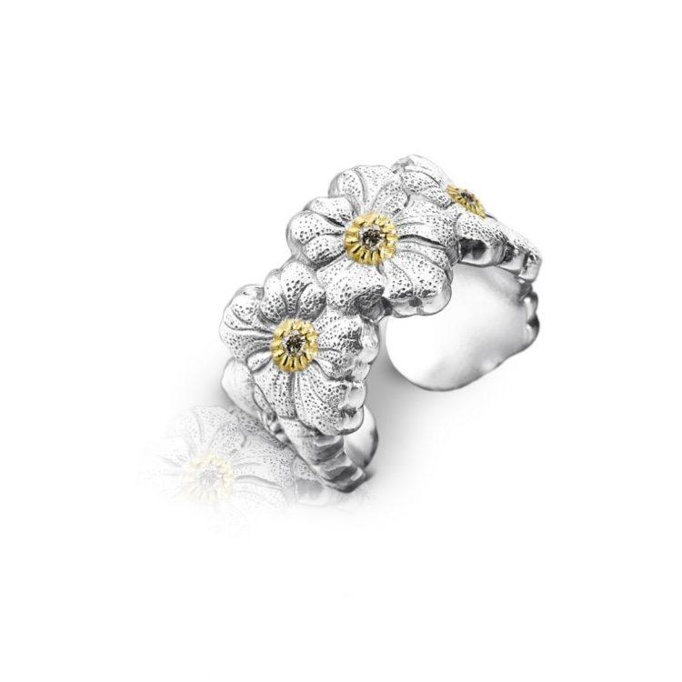 Eternelle Gardenia Buccellati Blossom diamanti brown diamond discount sconto