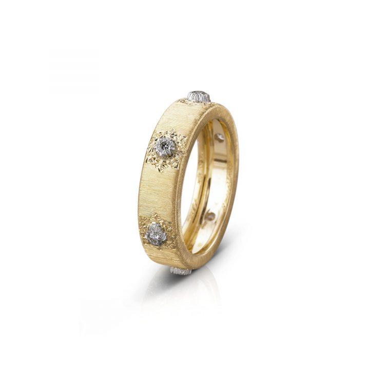 Anello BUCCELLATI Eternelle Macri stretto JAUETE009580 sconto discount ring