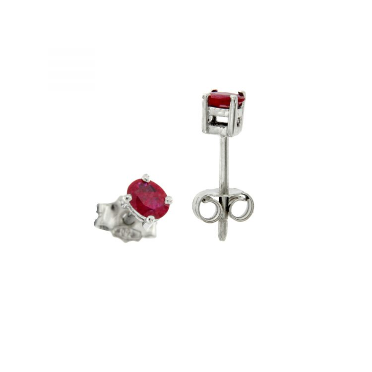 Orecchini in oro e rubino ruby earrings sconto discount