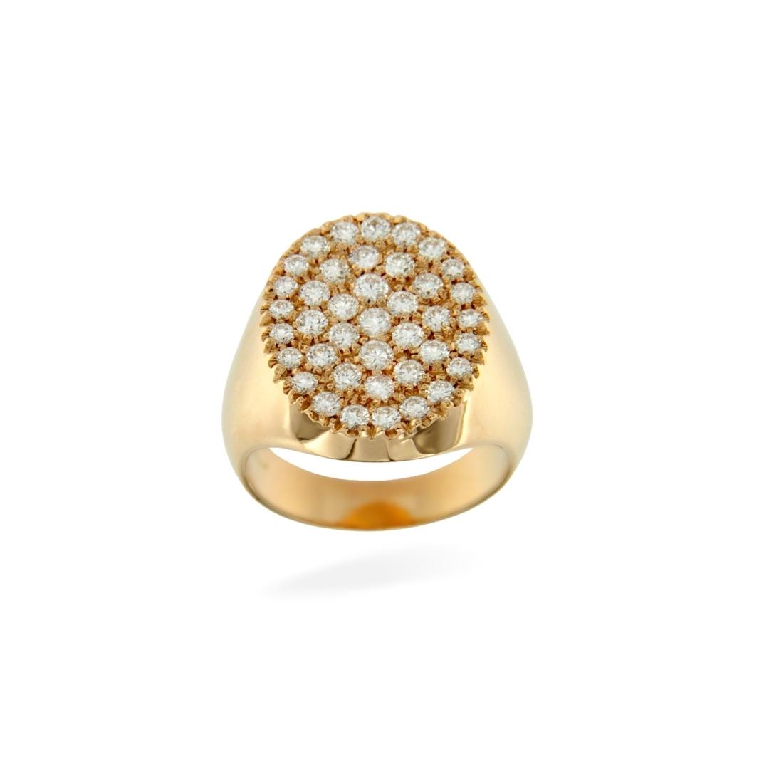 OTT_OV_OR_B anello mignolo brillanti oro rosa ovale stamp chevalier pinky ring sconto discount