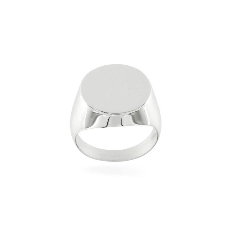 anello mignolo oro bianco timbro pinki ring chevalier stamp sconto discount