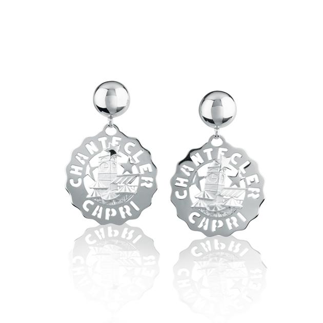 Orecchini piazzetta piccoli in argento chantecler sconto discount earrings silver 38914