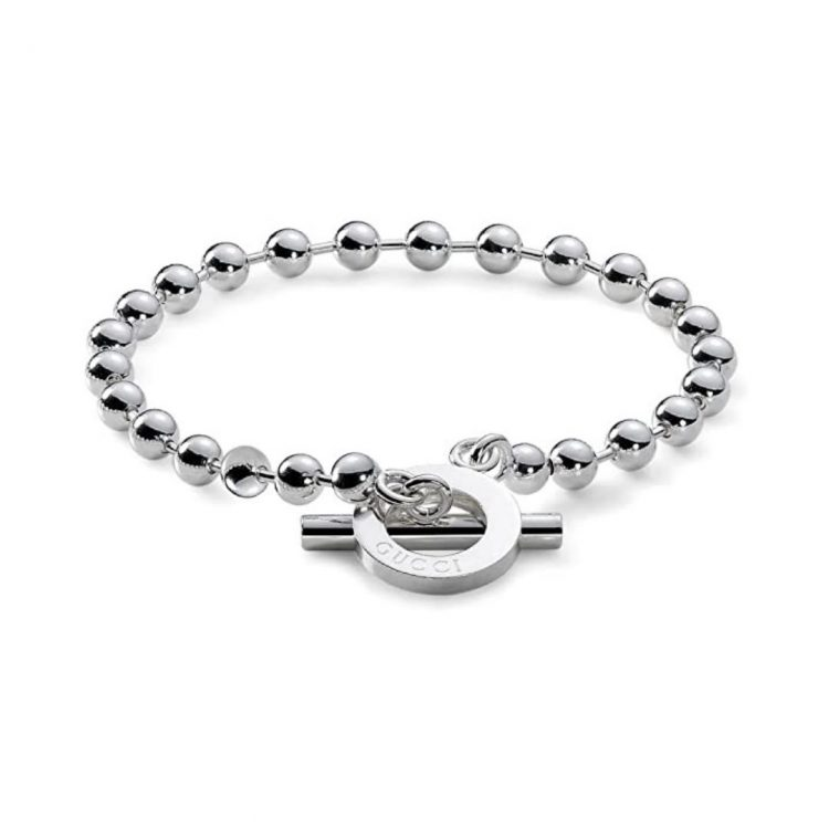 bracciale boule gucci argento bracelet silver interlocking sconto discount