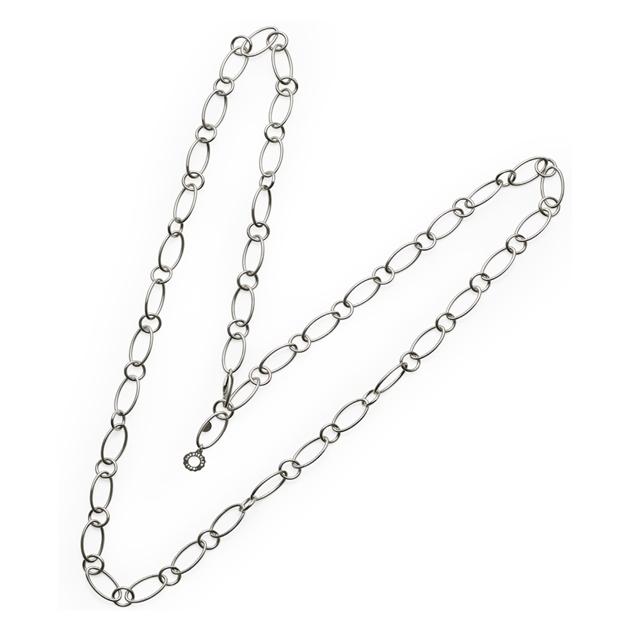 Chantecler Collana 80 cm in argento maglie ovali e tonde