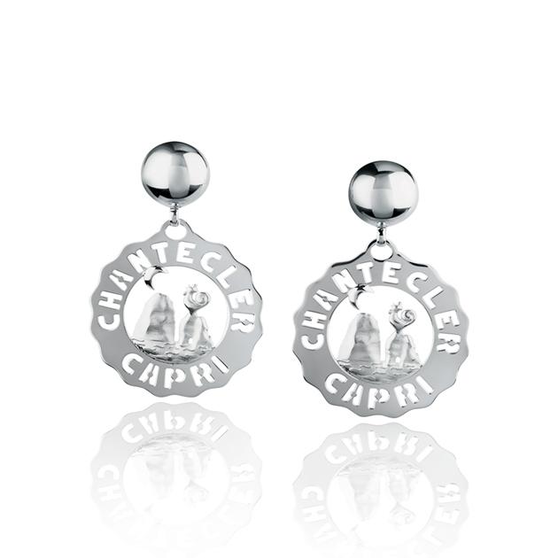 orecchini faraglioni piccoli chantecler silver earrings sconto discount