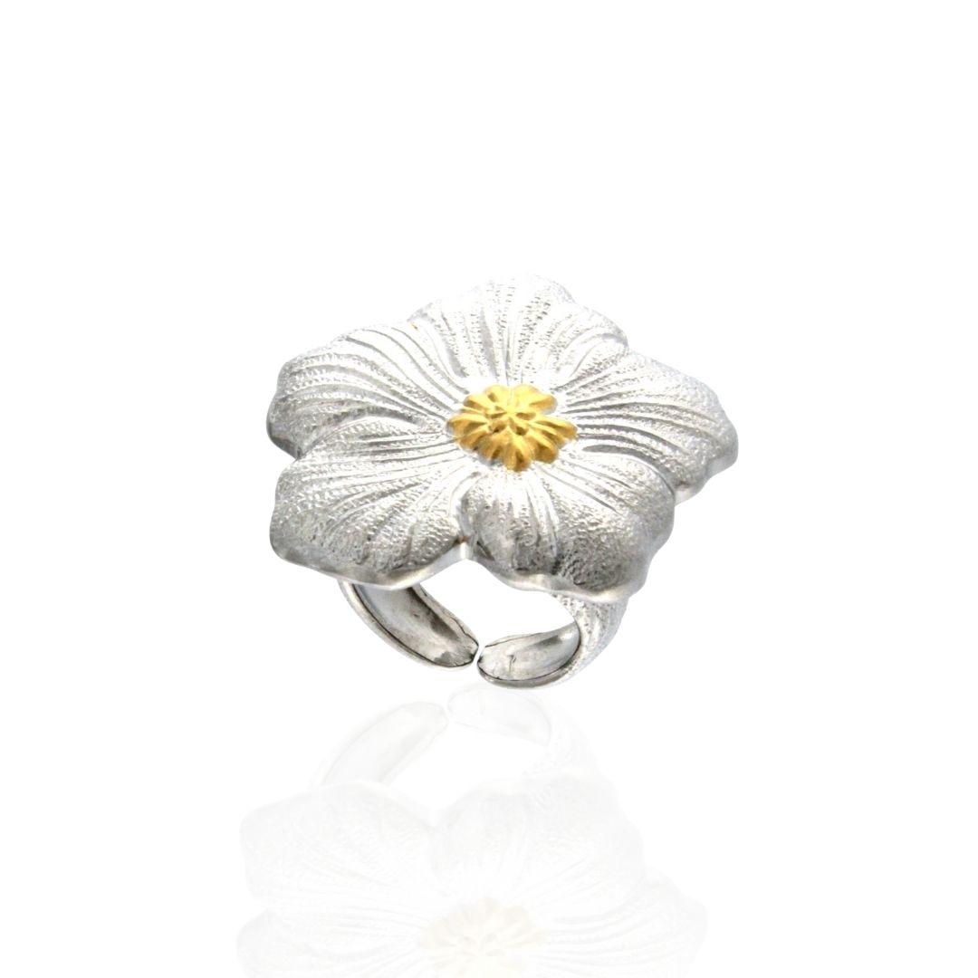 Anello Buccellati Gardenia argento placcato oro silver ring buccellati sconto discount