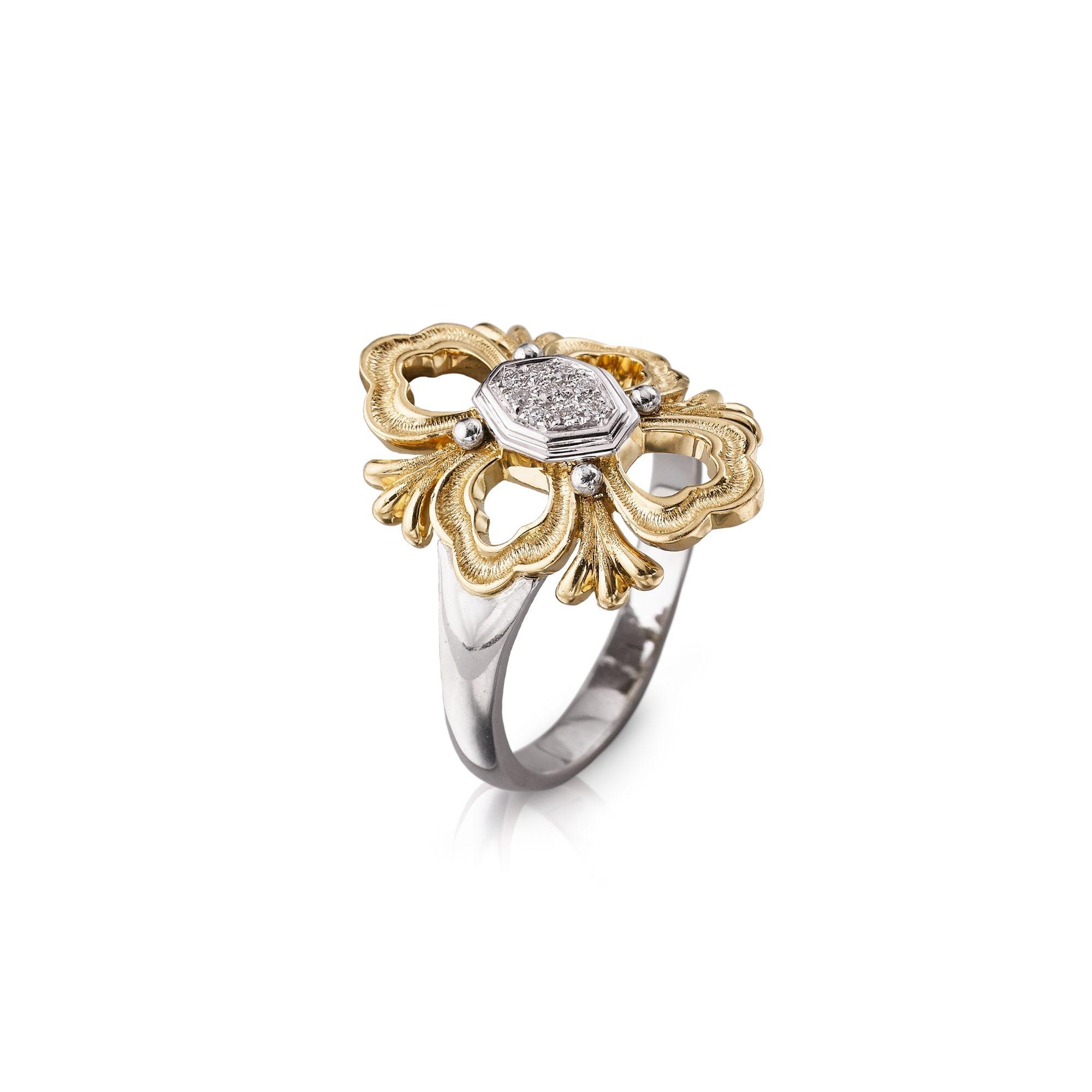 buccellati OPERA anello diamanti ring diamonds sconto discount
