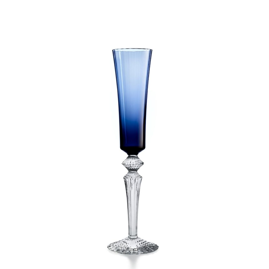 Baccarat Bicchiere fluttissimo Mille Nuits blu notte glass sconto discount