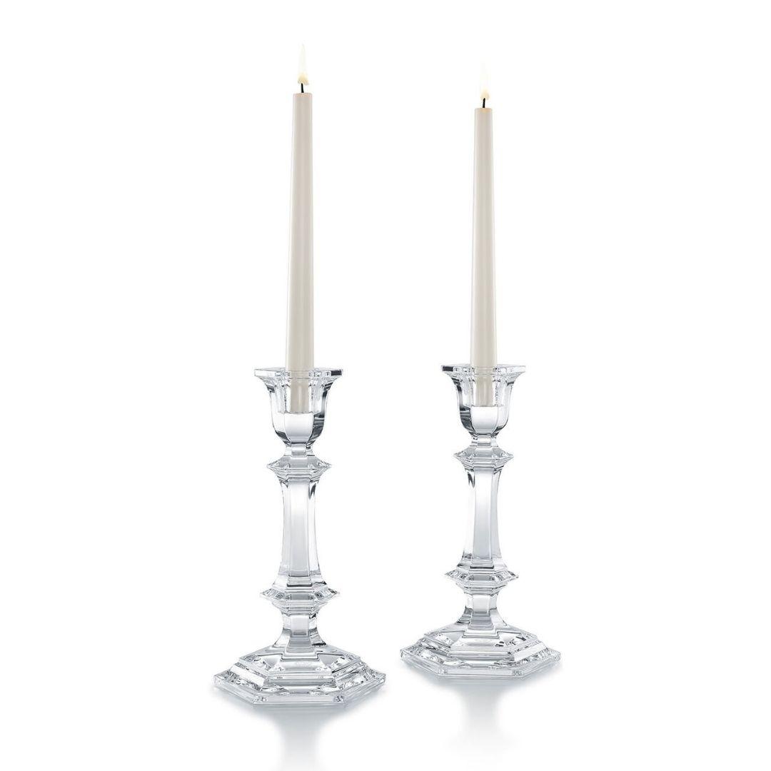 coppia candelabri Harcourt BACCARAT CANDLEHOLDER SCONTO DISCOUNT
