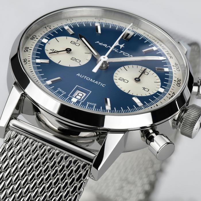 orologio hamilton american classic intra matic blu watch sconto discount c
