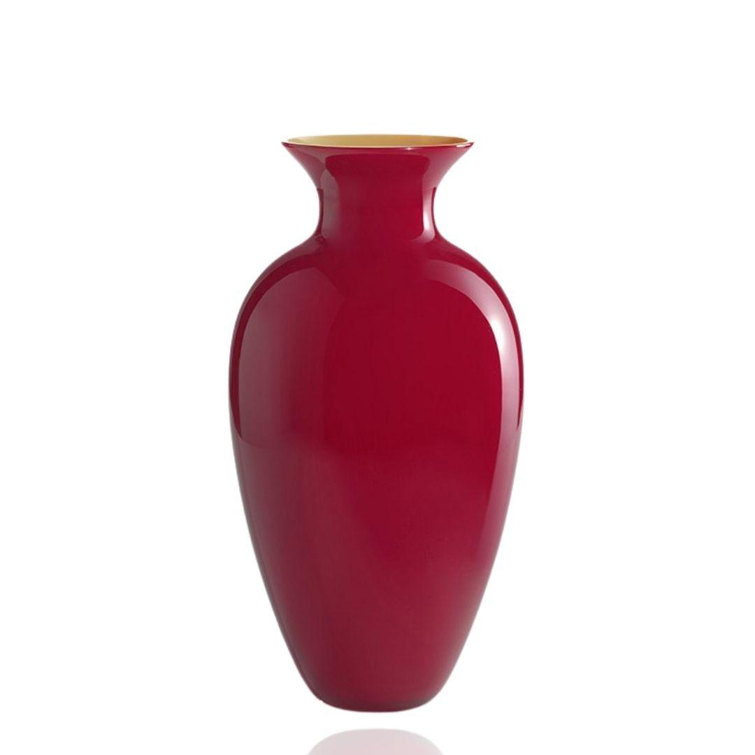 NasonMoretti vaso Antares vetro Murano rosso