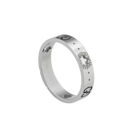 607339_J8502_9000_004_100_0000Anello Icon in oro bianco con stelle ring sconto discount