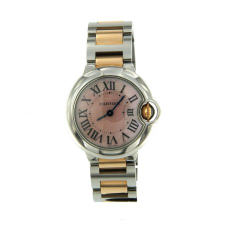 Orologio Cartier ballon bleu 28 mm acciaio ed oro watch lady sconto discount Vintage secondo polso second wirst