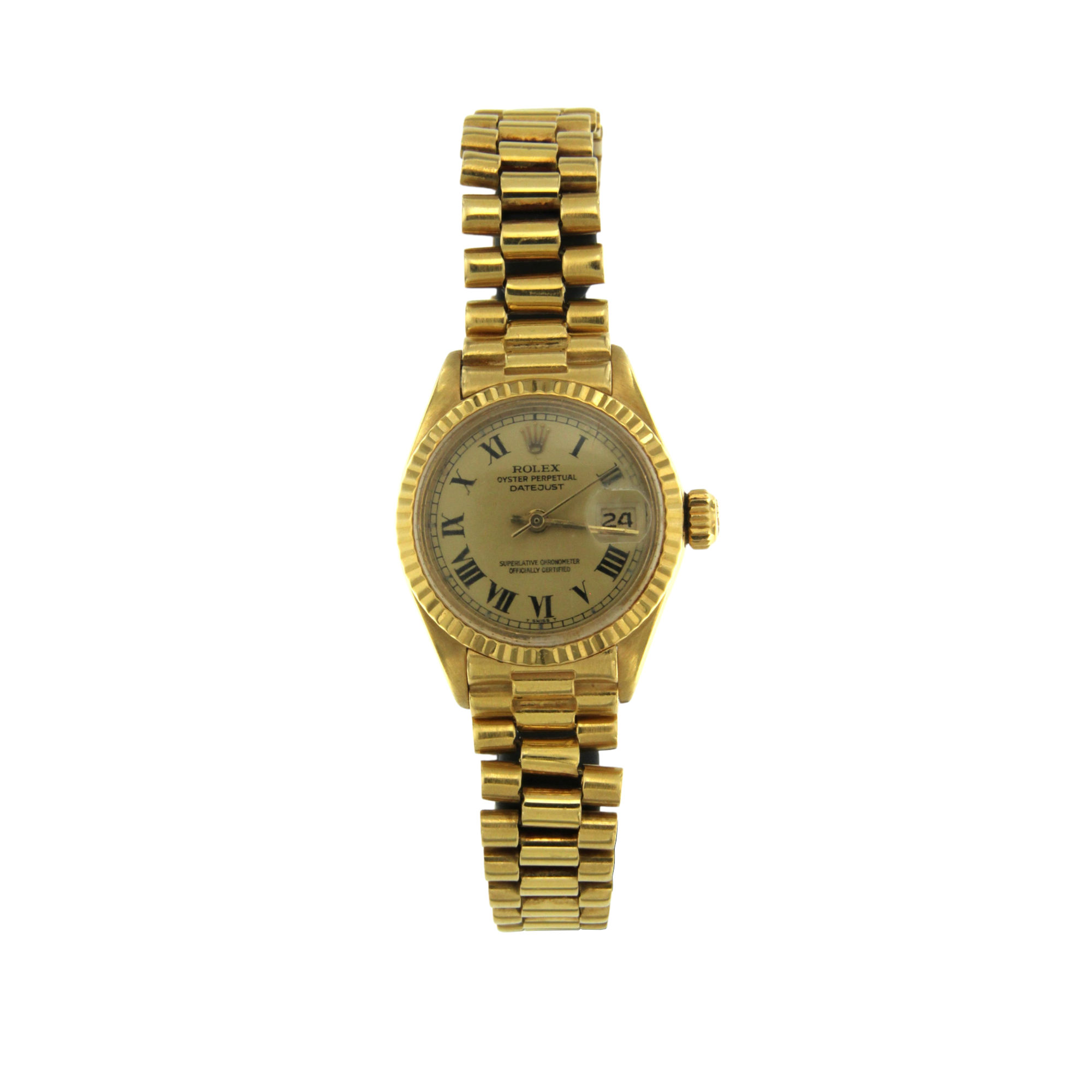 Orologio Rolex Oyster Perpetual Date Just oro giallo 18 ct second wirst watch sconto discount