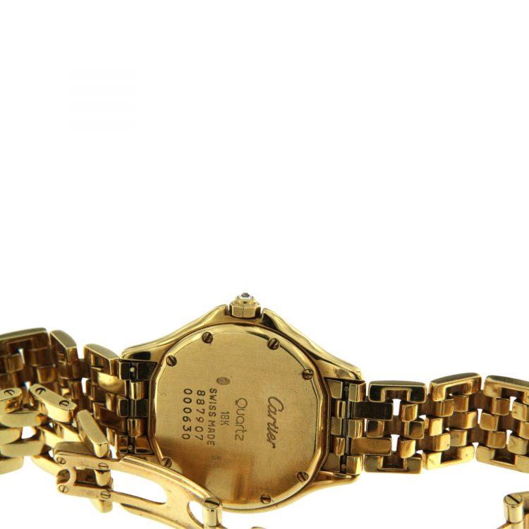 OROLOGIO Cartier Cougar oro 18 ct con diamanti 26 mm ref.887907 B
