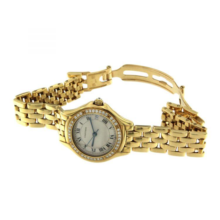 OROLOGIO Cartier Cougar oro 18 ct con diamanti 26 mm ref.887907 C