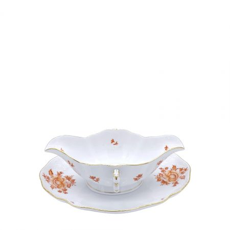 HEREND salsiera con piatto NBH222 sauce boat with plate SCONTO DISCOUNT