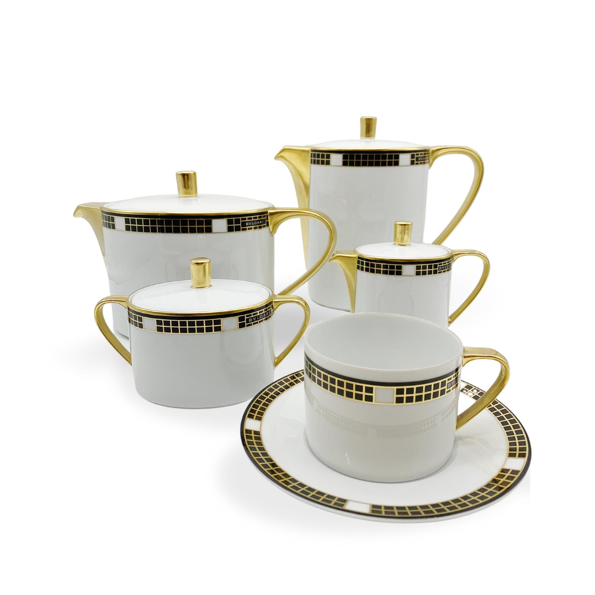 servizio te caffè bvlgari tea service quadro black nero sconto discount