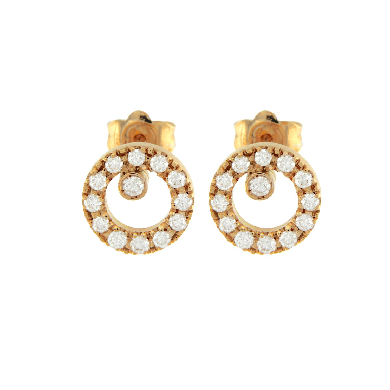 51139A-0 orecchini oro rosa brillanti earrings in rose gold and diamonds sconto discount