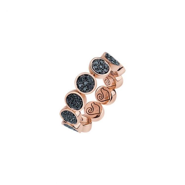 Anello chantecler a fascia diamanti neri 41021 ring black diamonds sconto discount 41021