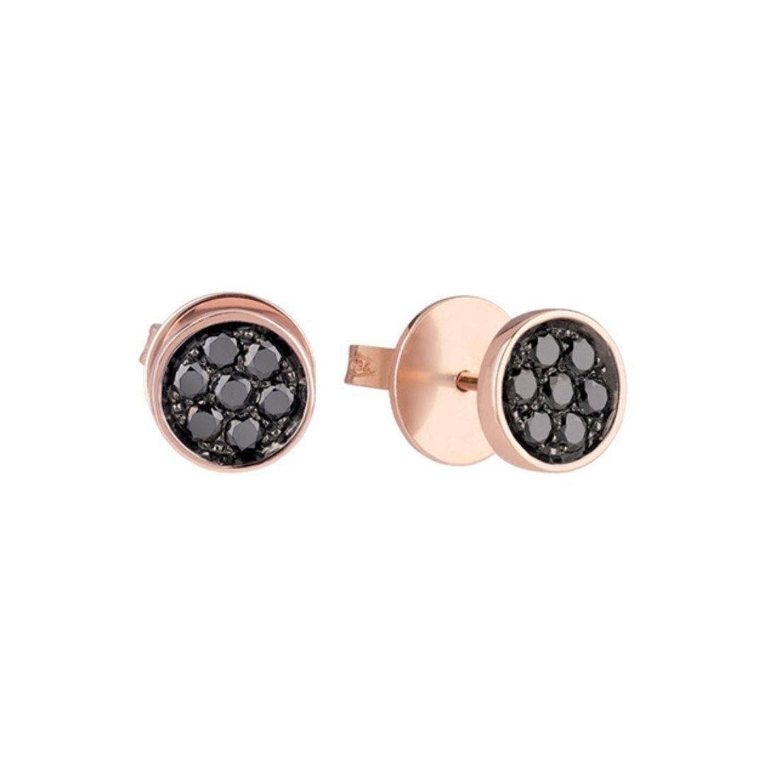 Chantecler Orecchini a lobo Paillettes earrings diamonds black sconto discount 41130