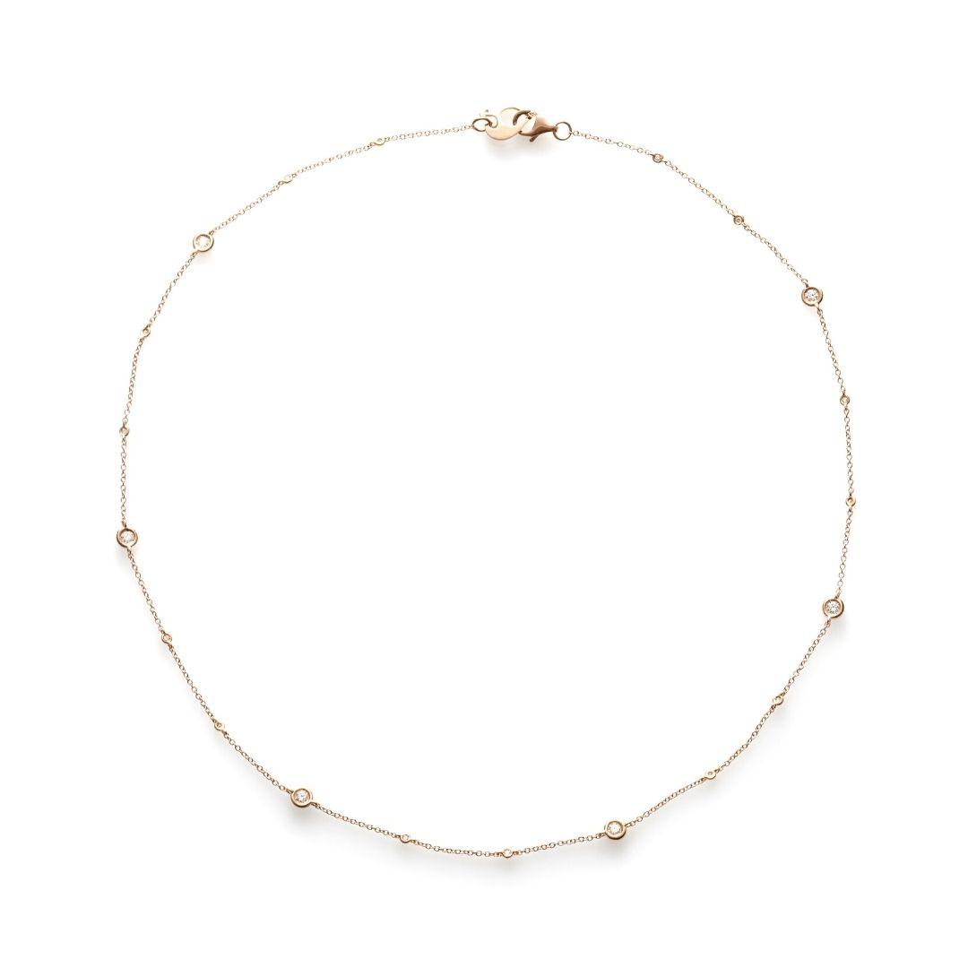 Chantecler collana capri oro rosa e diamanti necklace diamonds sconto discount 37712