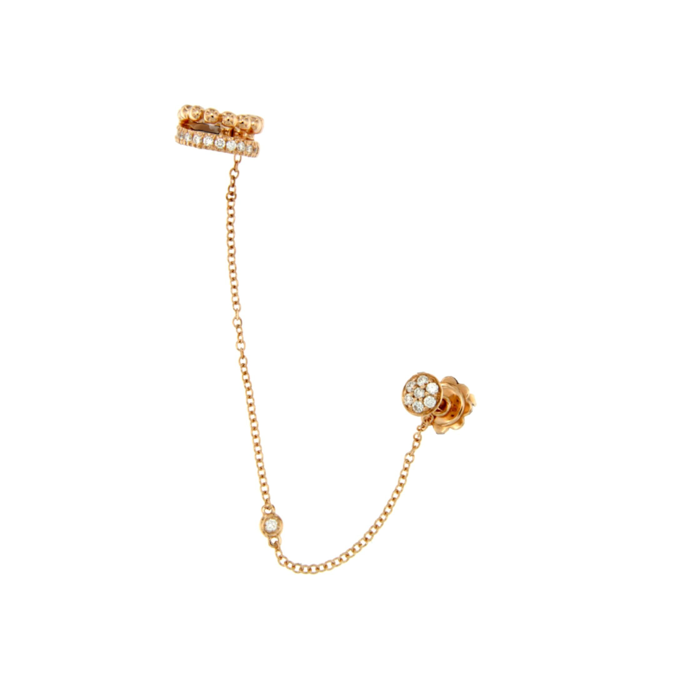 Monorecchino Helix oro rosa brillanti single earring diamonds sconto discount