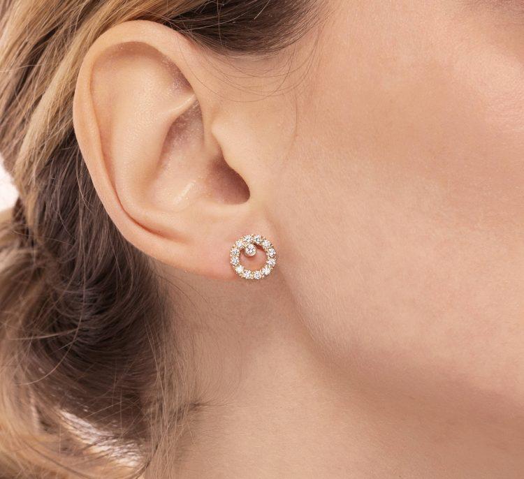 orecchini cerchietti diamanti gaia diamonds round earrings sconto discount