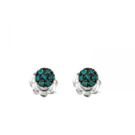 Orecchini oro bianco diamanti blu earrings sconto discount 45307_blue_P