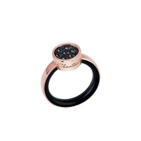 anello smalto chantecler diamanti neri paillettes black diamonds sconto discount 41138
