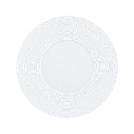 hemisphere jl coquet piatto piano 27 cm (14 cm centro) bianco satinato servi plate