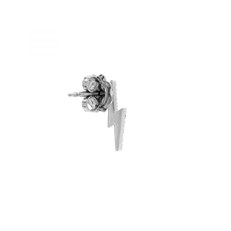 White gold single earring lightning with diamonds sconto discount
