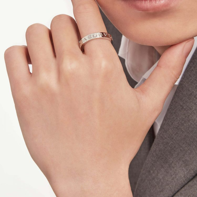 Anello BVLGARI BVLGARI ring diamond white gold oro bianco sconto discount