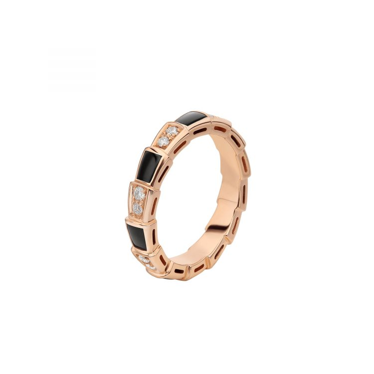 SERPENTI VIPER ANELLO BVLGARI onice diamanti onix diamonds ring sconto discount