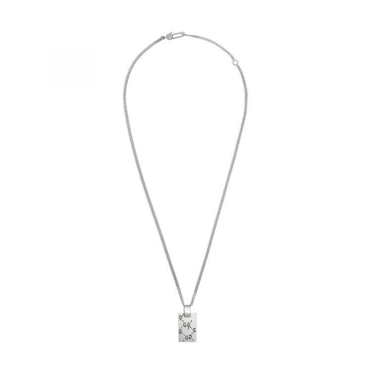 Collana Gucci in argento con pendente GucciGhost
