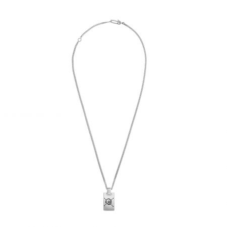 Collana in argento con pendente GucciGhost gucci necklace sconto discount